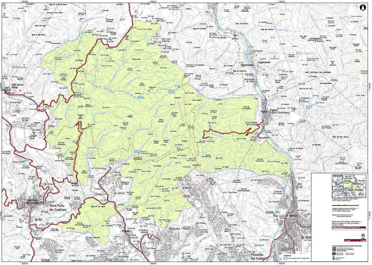 Mapa del PEIN Cingles de Bertí