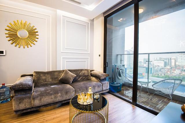 Phòng khách căn hộ Vinhomes Metropolis