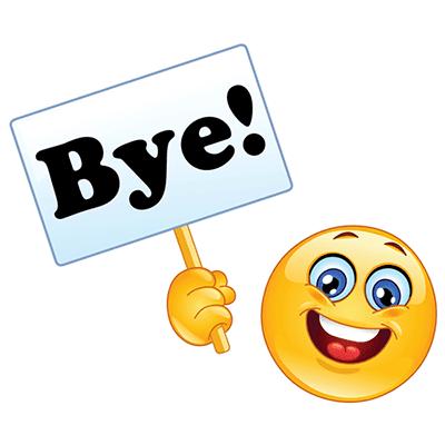 Bye emoji