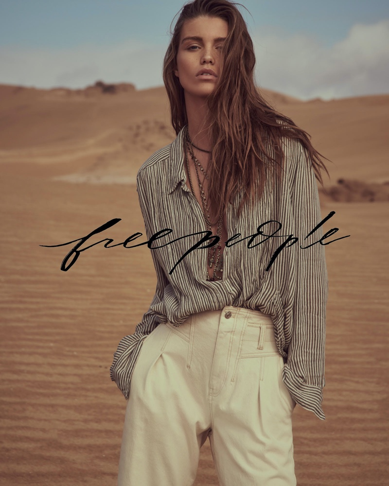 Luna Bijl stars in Free People March 2020 catalog