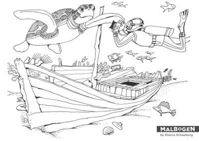Schiffswrack Zeichnung