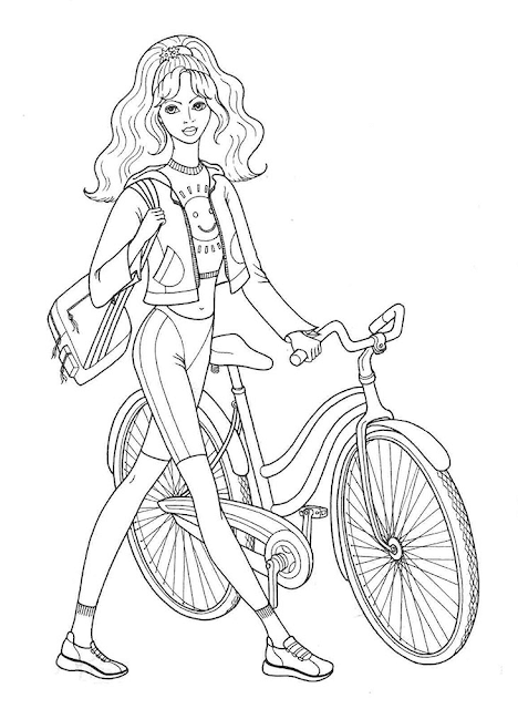 Gambar Mewarnai Bermain Sepeda - 4