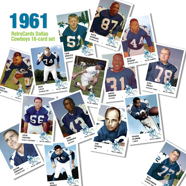 Topps Dallas Cowboys football cards 1961