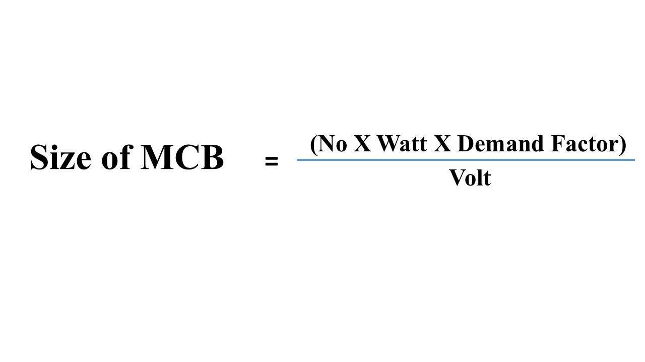 mcb rating