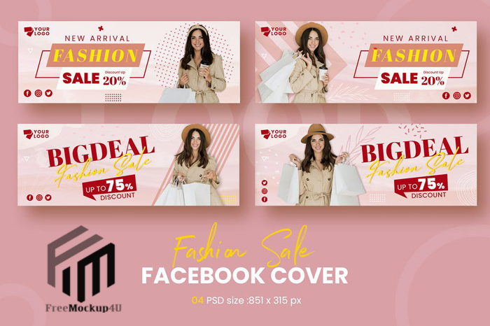 Fashion Facebook Timeline Covers Template Elements