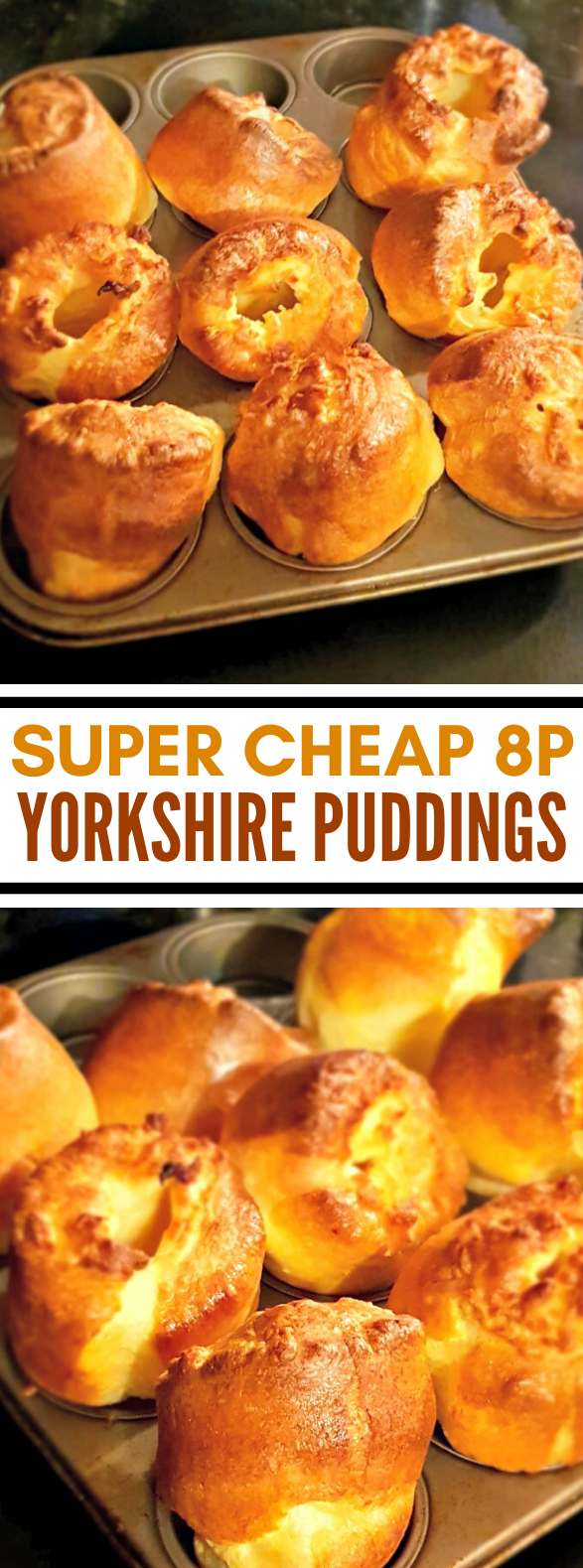 SUPER CHEAP 8P YORKSHIRE PUDDINGS #dinner #meals #appetizers #pudding #recipes