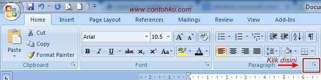 Gambar cara membuat daftar isi di word 2007