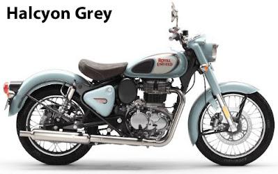 Royal Enfield Classic 350 Halcyon Grey.