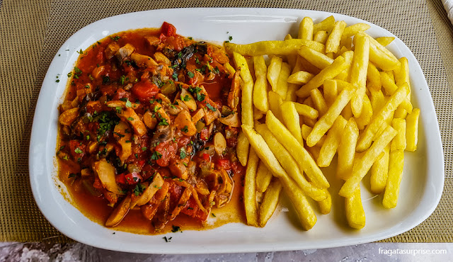 Búzios à cabo-verdiana, prato típico de Cabo Verde