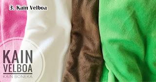 Kain Velboa biasa digunakan untuk membuat souvenir boneka dan bantal