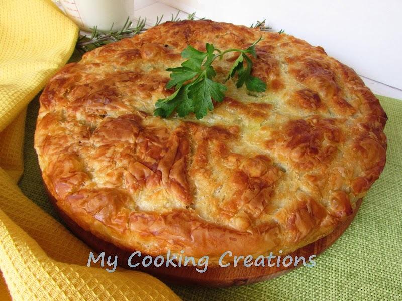 Баница със спанак и сирене * Torta salata di pasta fillo con spinaci e feta