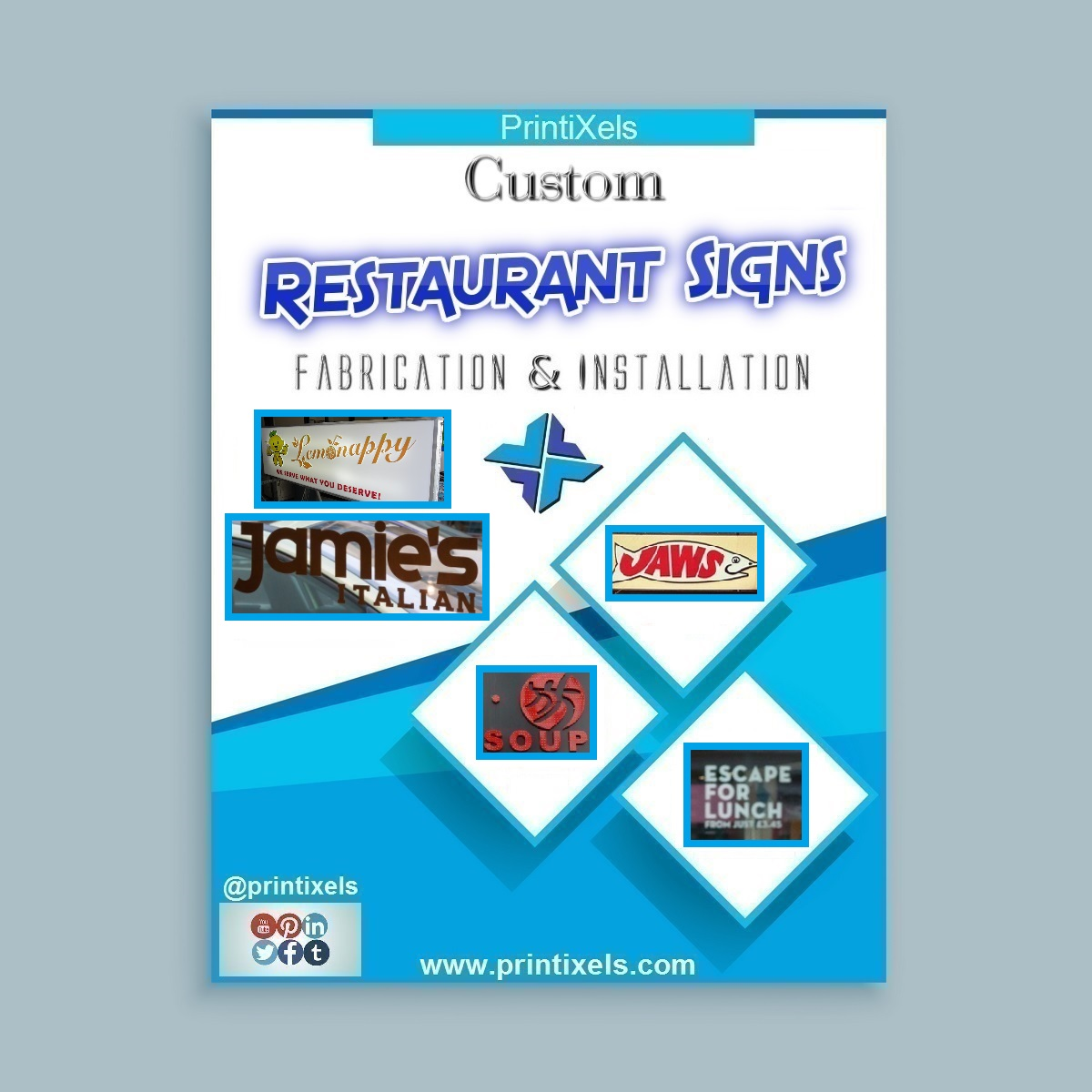 Custom Restaurant Signs - Fabrication & Installation