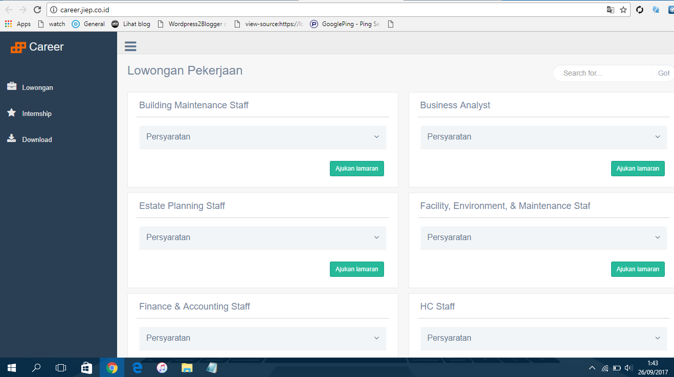 Lowongan Kerja PT Persero Jakarta Industrial Estate Pulogadung