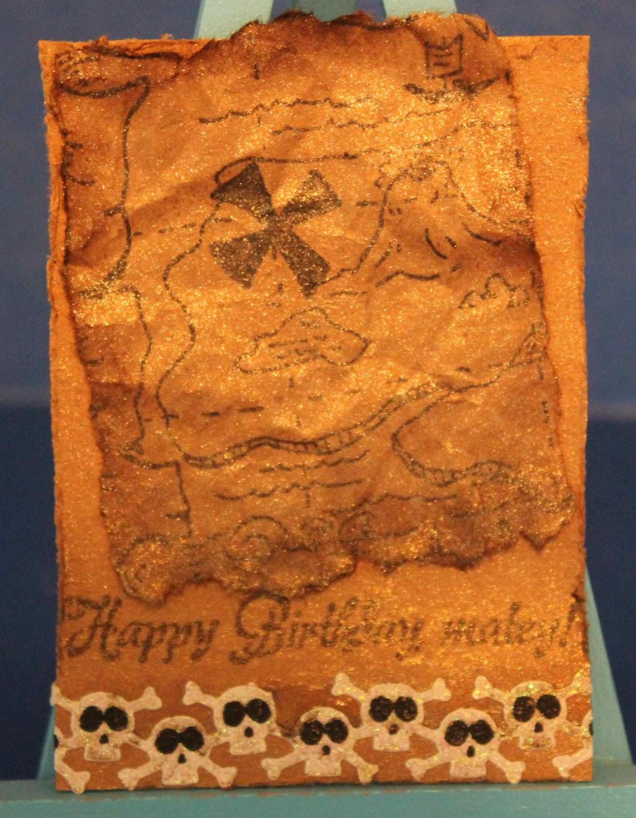Created By Sunshine Honeybee Treasure Map Birthday Atc