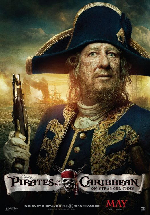 Pirates of the Caribbean 4 Captain Barbossa poster