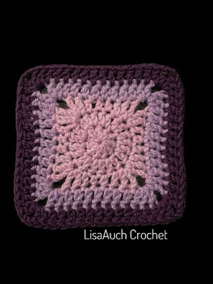 How to crochet a solid granny square for a bag, sweater, or cardigan