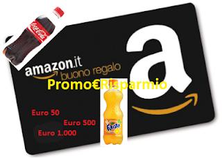 Logo Con Coca-Cola puoi vincere 1.954 buoni Amazon da 50, 500 e 1.000 euro!