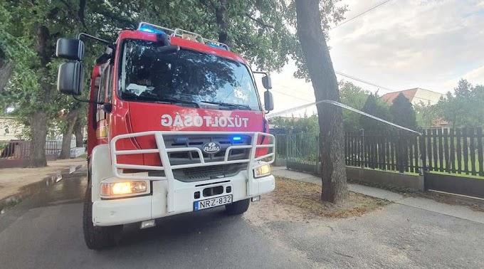 Tragikus háztűz és kettéhasadt fa miatt is vonultak kedden a megyei tűzoltók