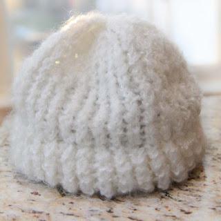 Loom knit free baby hat pattern