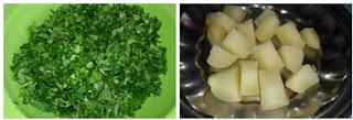 potatoes and fenugreek leaves