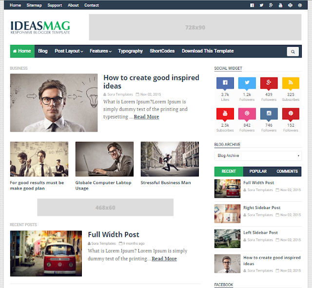 Ideas Mag Magazine Blogger Template