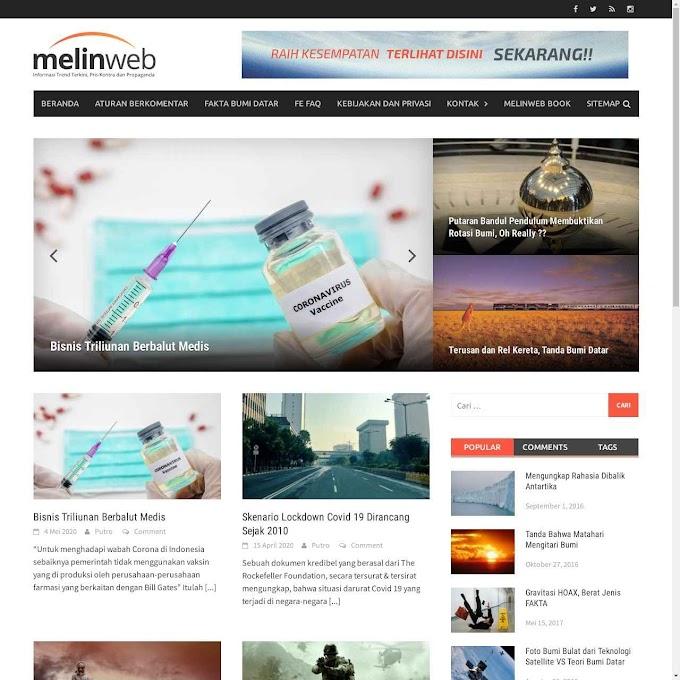 Melinweb.com dan Teori Bumi Datar