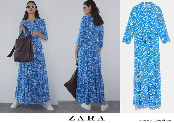 Princess Sofia wore Zara Long Printed dress