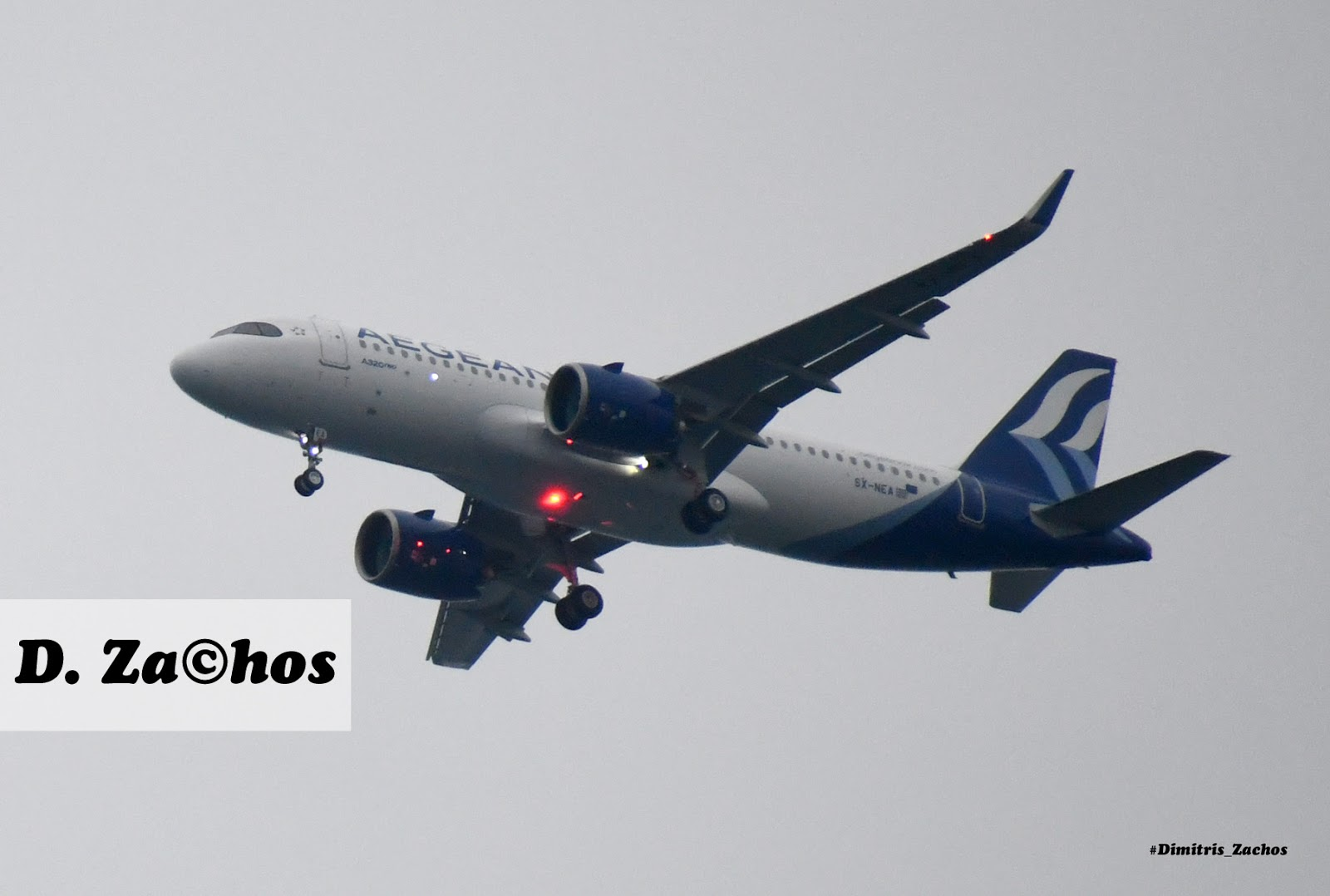 Το παρθενικό ταξίδι του ολοκαίνουριου αεροσκάφους A320 neo της  Aegean Airlines μέσα απο τον φακό του Δημήτρη Ζάχου (φώτο βίντεο)