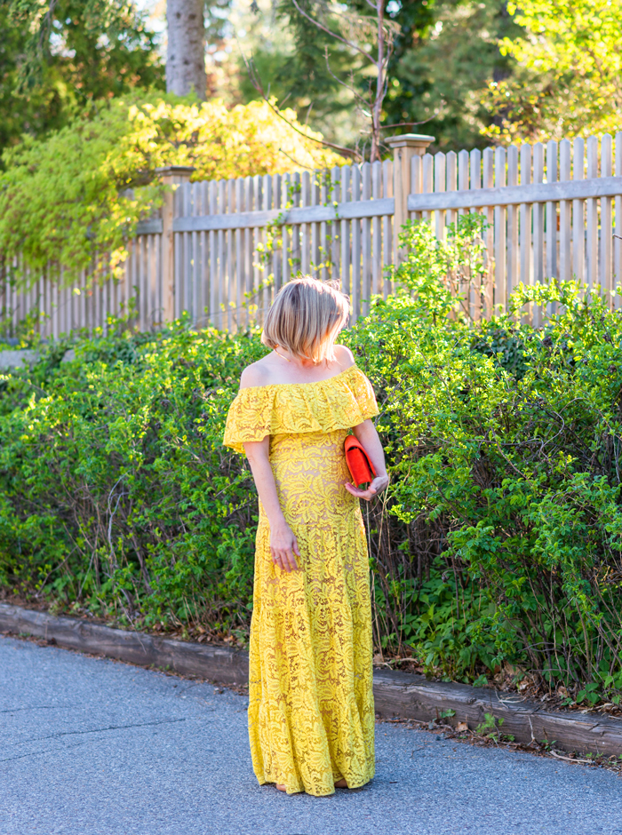 Dress the Population Yellow Reese Maxi