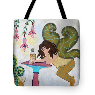 Fairy Nightcap Art Print Tote Bag by Jeanne Fry