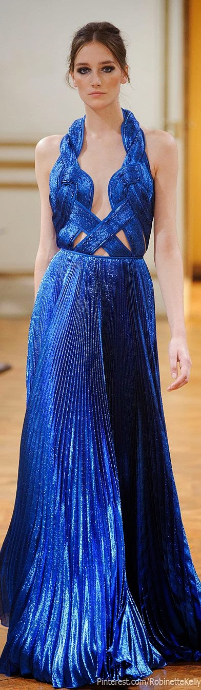 perfect royal blue Zuhair Murad gown, F/W 2013