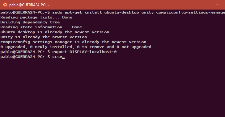 Ubuntu Linux GUI Bash Windows 10