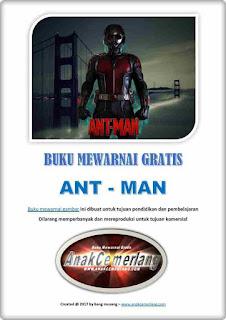 buku mewarnai pdf gratis pahlawan super Ant Man
