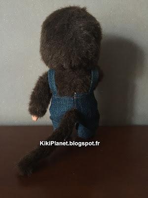 kiki monchhichi couture handmade fait main salopette en jean