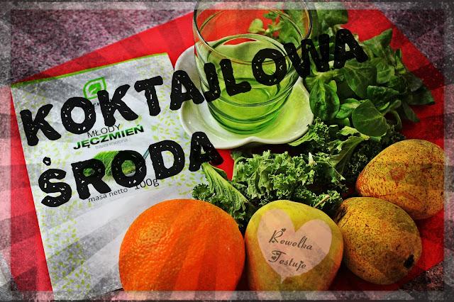 Koktajlowa Środa - Zielony koktajl z młodym jęczmieniem! Na zdrowie!