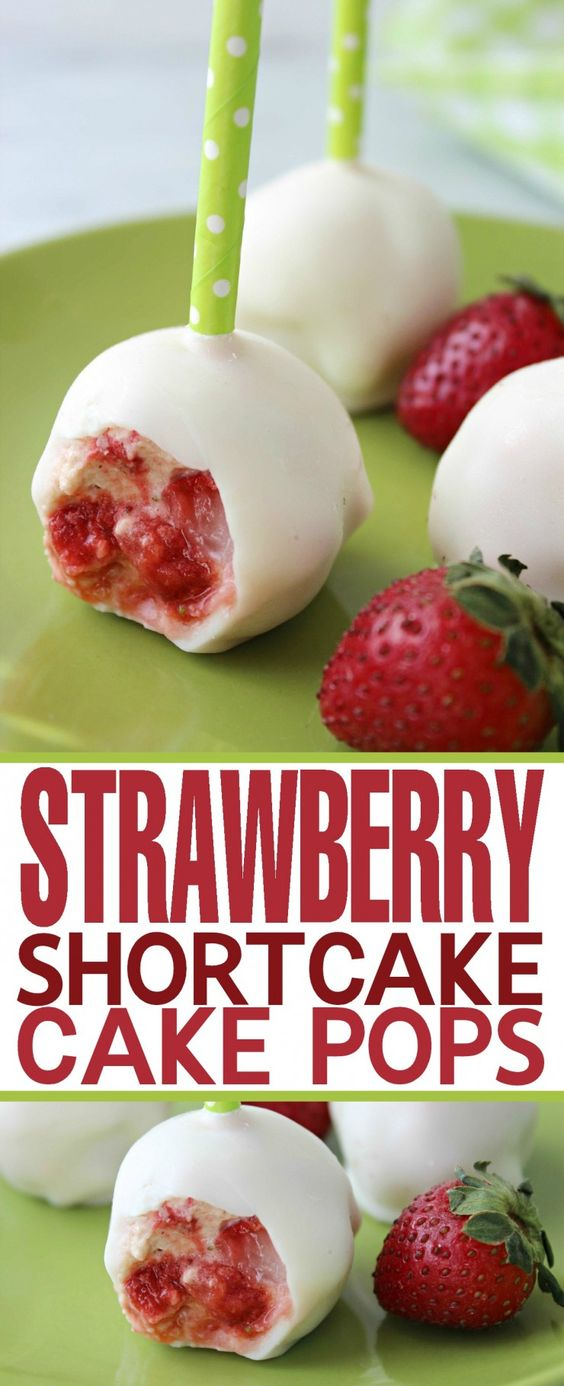 Strawberry Shortcake Cake Pops