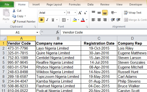 how to create data entry form in ms excel