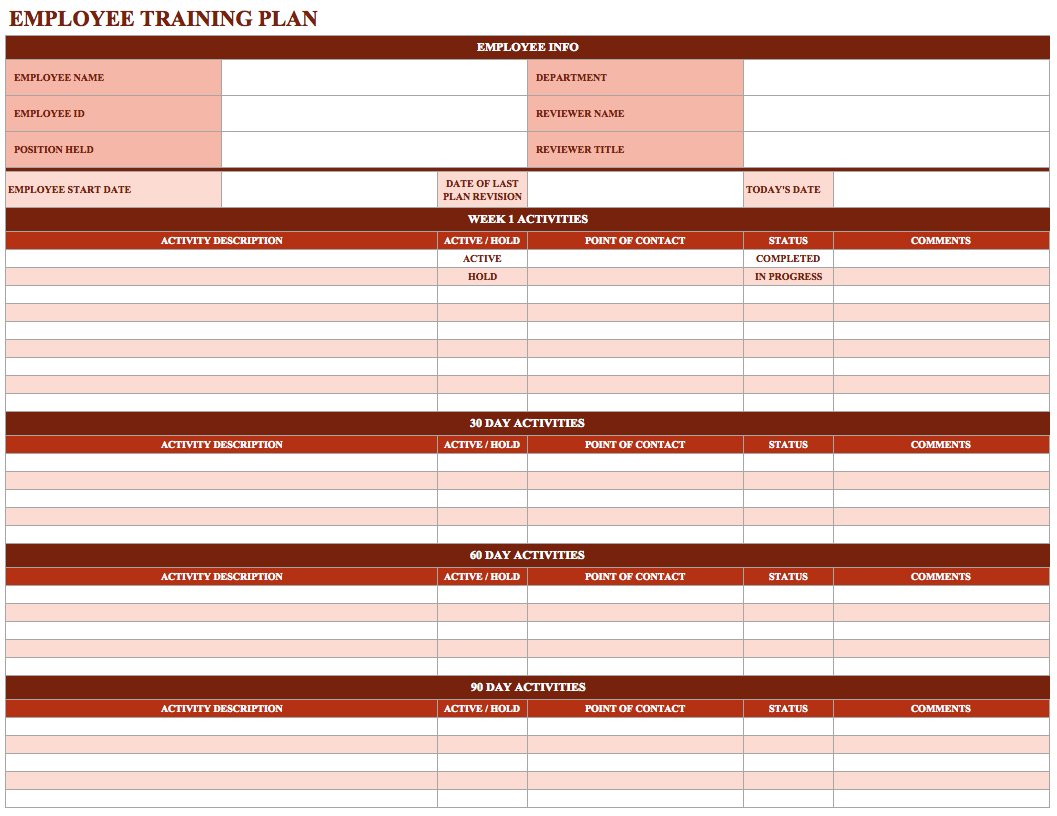 employee training schedule template in ms excel excel template