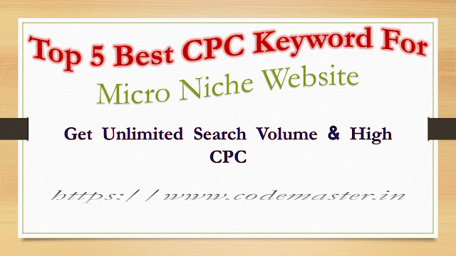 Top 5 Best CPC Keyword For Micro Niche Website