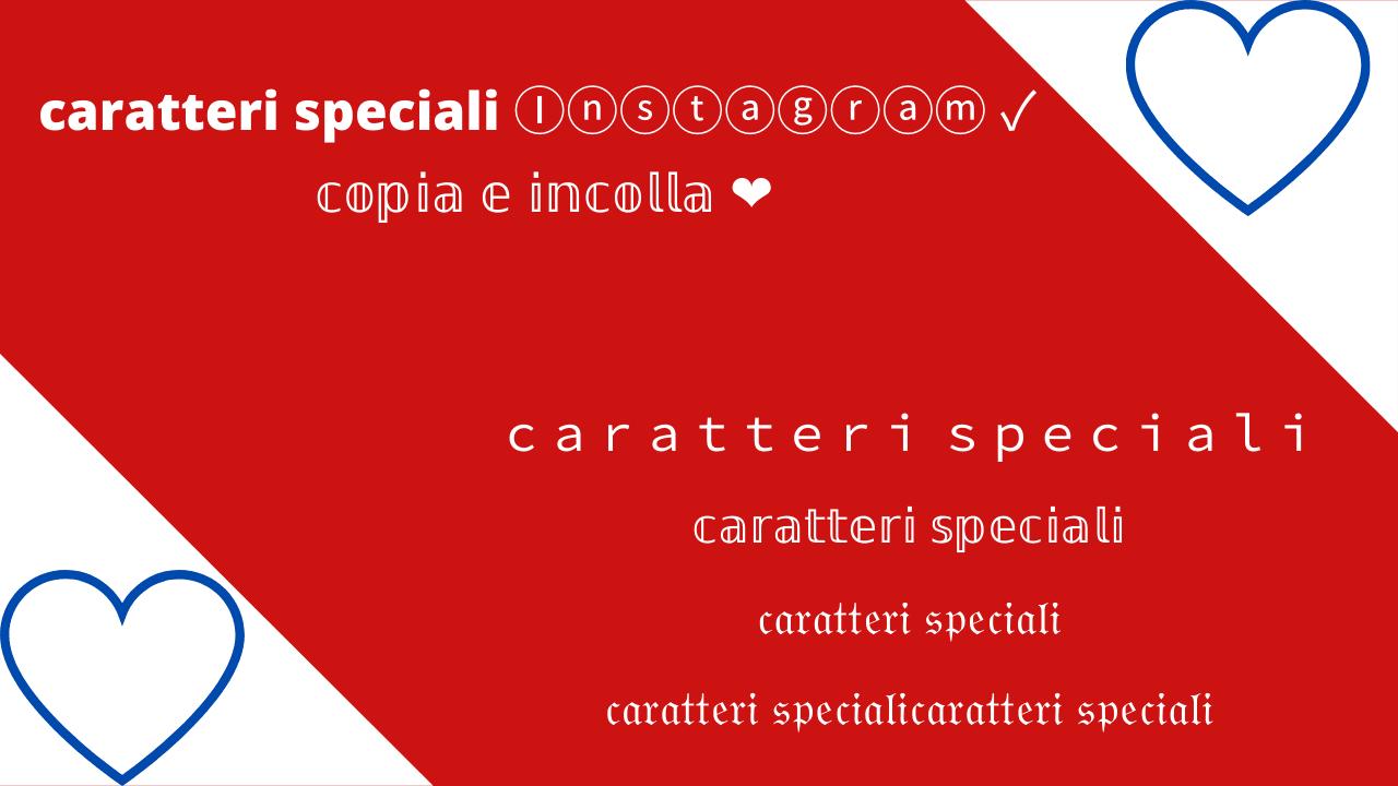 caratteri speciali