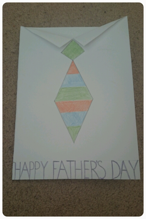 father's day homemade card