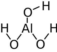Representación de la molécula de Al(OH)3 - definición, ejemplos y nomenclatura de óxidos básicos e hidróxidos - sdce.es - sitio de consulta escolar