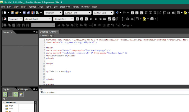 Microsoft's Expression Web 4.0