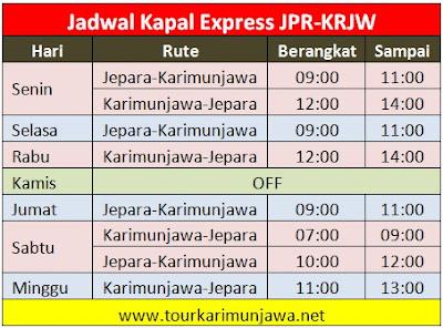 jadwal kapal express jepara-karimunjawa paling baru