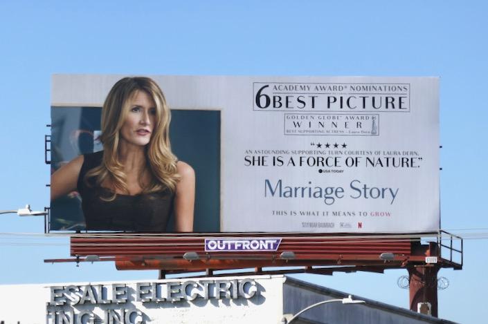 Laura Dern Marriage Story Oscar nominee billboard