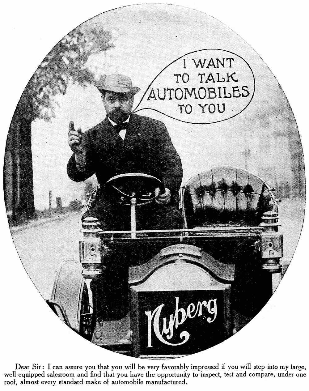 a pushy assertive car salesman in an advertisement