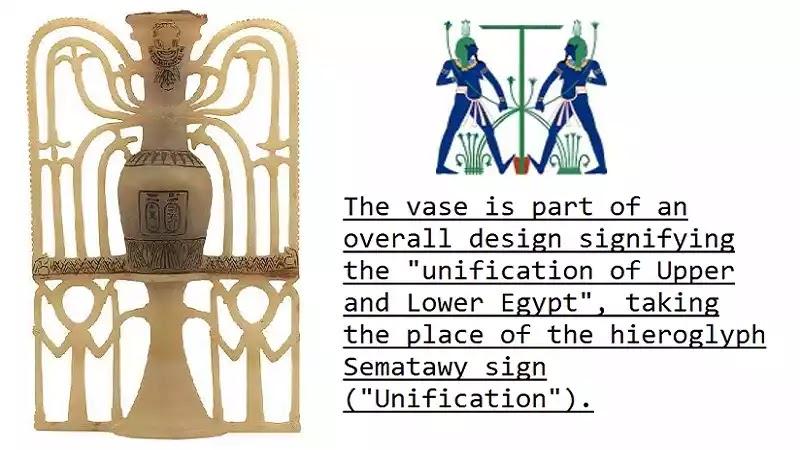 The Perfume Vase of King Tutankhamun with Sematawy sign