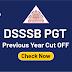 DSSSB PGT Previous Year Cut OFF: Check Now
