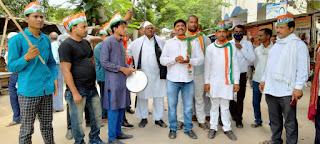 बढ़ती मंहगाई के खिलाफ कांग्रेसियों ने किया प्रदर्शन  | #NayaSaberaNetwork
