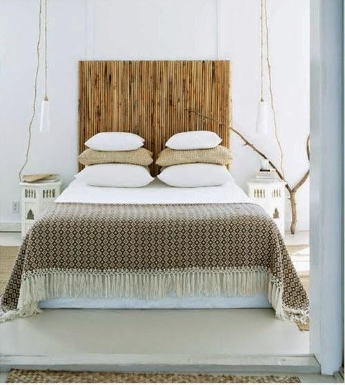 Mi rinc n de sue os lamparas colgantes para el dormitorio - Cabeceros de madera rusticos ...